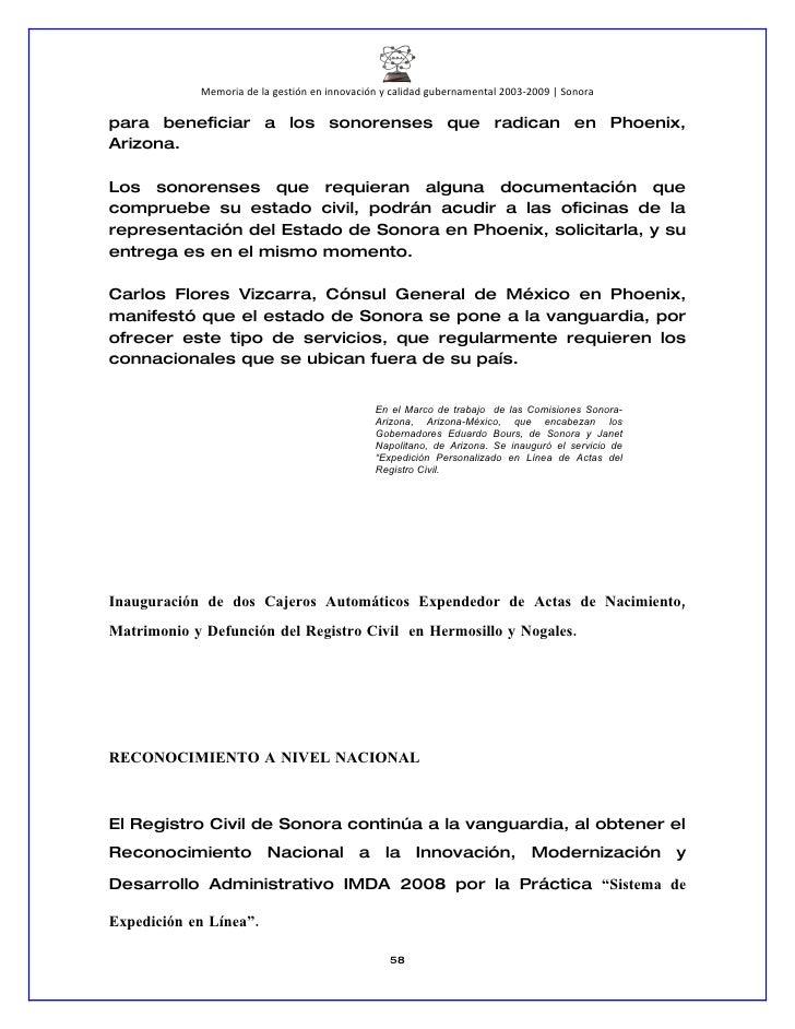 Innovación y Calidad en Gobierno Sonora