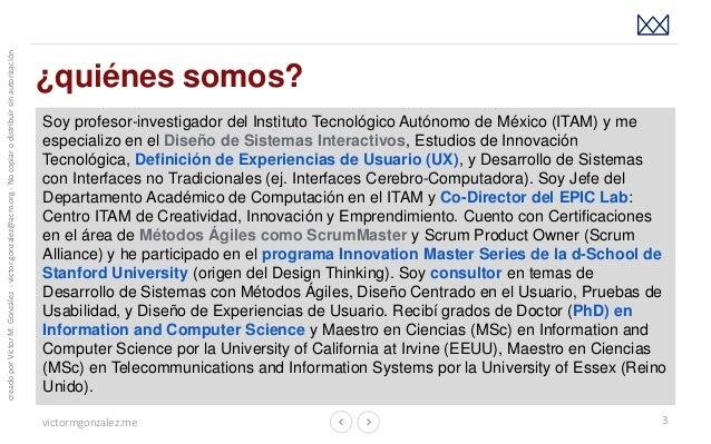 Innovación y Diseño Centrado en la Experiencia: creando algo más que productos de software Slide 3