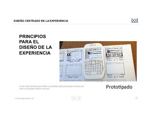 victormgonzalez.me DISEÑO CENTRADO EN LA EXPERIENCIA 23 ProtoLpado PRINCIPIOS PARA EL DISEÑO DE LA EXPERIENCIA Fuente:hb...
