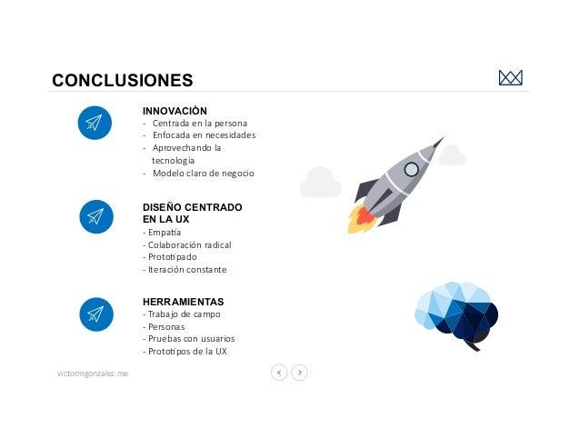 victormgonzalez.me CONCLUSIONES DISEÑO CENTRADO EN LA UX - EmpaWa - Colaboración radical - ProtoEpado - Iteración constant...