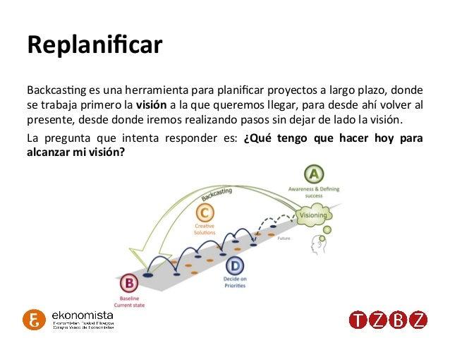 Replanificar   BackcasRng  es  una  herramienta  para  planificar  proyectos  a  largo  plazo,  donde...
