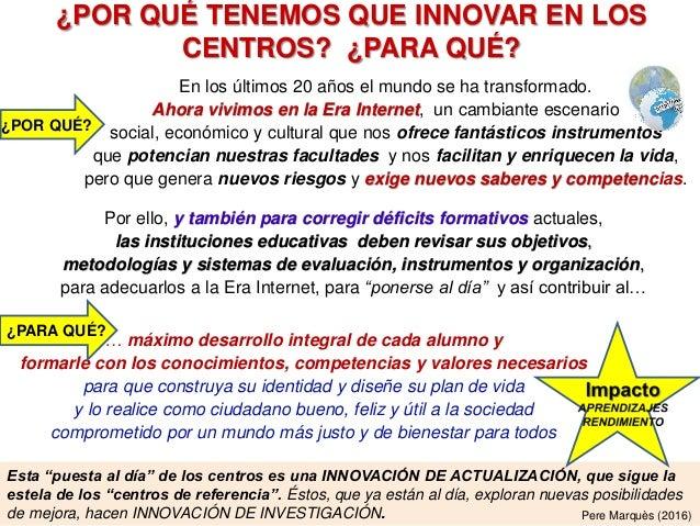 Cómo innovar en los centros docentes: un modelo sistémico. Slide 2