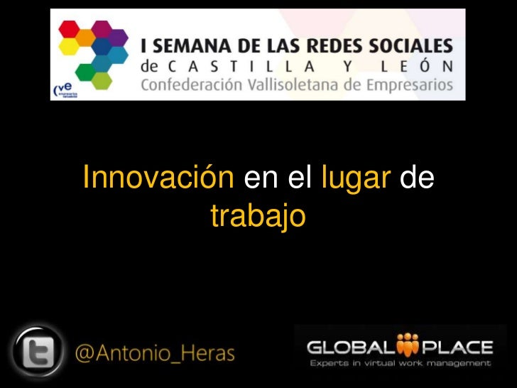 Innovación en el lugar de trabajo<br />