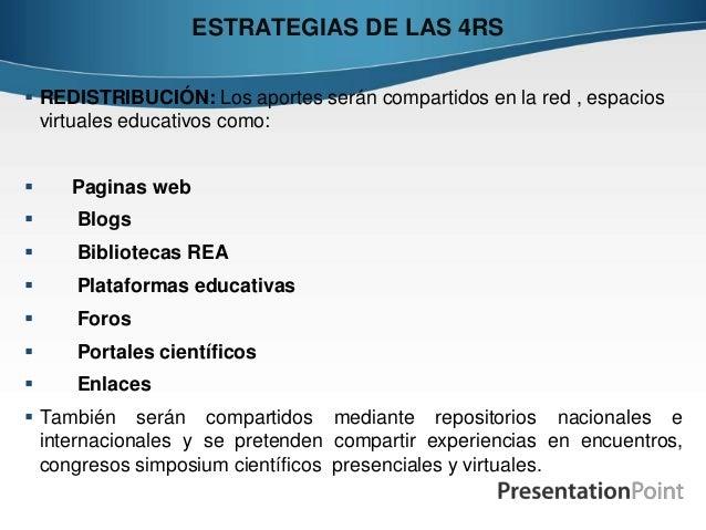  REDISTRIBUCIÓN: Los aportes serán compartidos en la red , espacios virtuales educativos como:  Paginas web  Blogs  Bi...