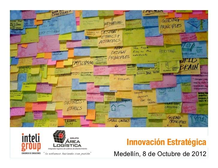 """!""""#$%&()*+&*,#""""-)./01    Innovación Estratégica    2&(/01*+&*3)*/11#4)./01Medellín, 8Innovación Estratégica 2011®         ..."""