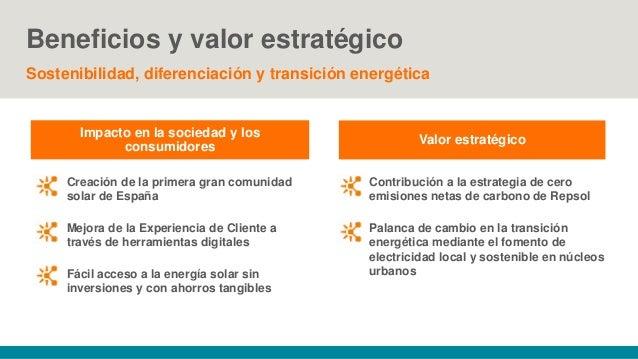 Beneficios y valor estratégico Sostenibilidad, diferenciación y transición energética Impacto en la sociedad y los consumi...