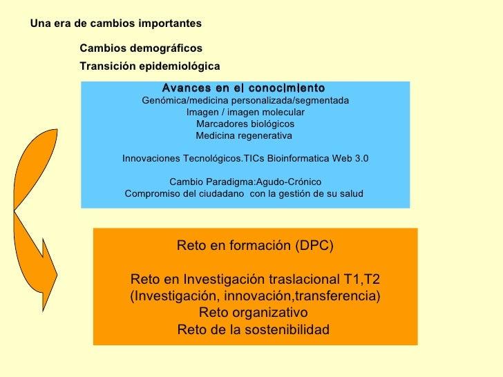 Una era de cambios importantes          Cambios demográficos         Transición epidemiológica                         Ava...