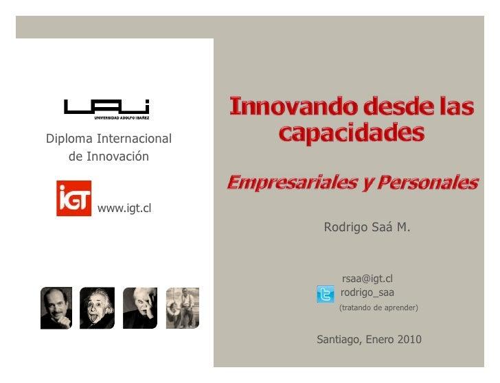 Diploma Internacional     de Innovación           www.igt.cl                          Rodrigo Saá M.                      ...
