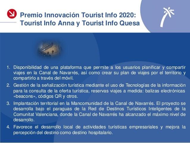 Premio Innovación Red Tourist Info Accésits 2020 Tourist Info Dénia Tourist Info Dénia Consell «Estrategia de Comunicación...