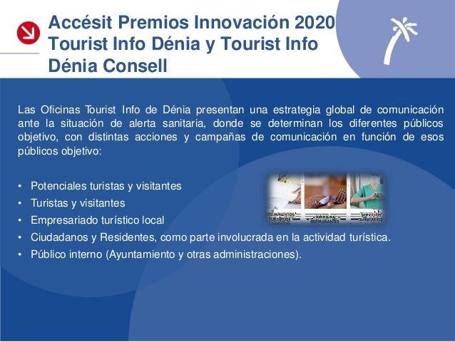 Accésit Premios Innovación 2020 Tourist Info Dénia y Tourist Info Dénia Consell Las Oficinas Tourist Info Dénia se erigen ...