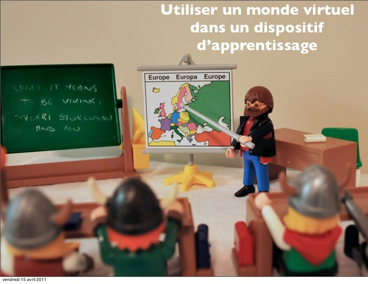 Utiliser un monde virtuel                             dans un dispositif                              d'apprentissagevendr...