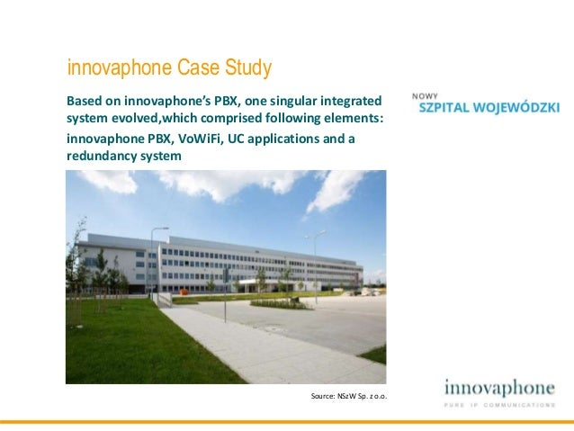 innovaphone Case Study Based on innovaphone's PBX, one singular integrated system evolved,which comprised following elemen...