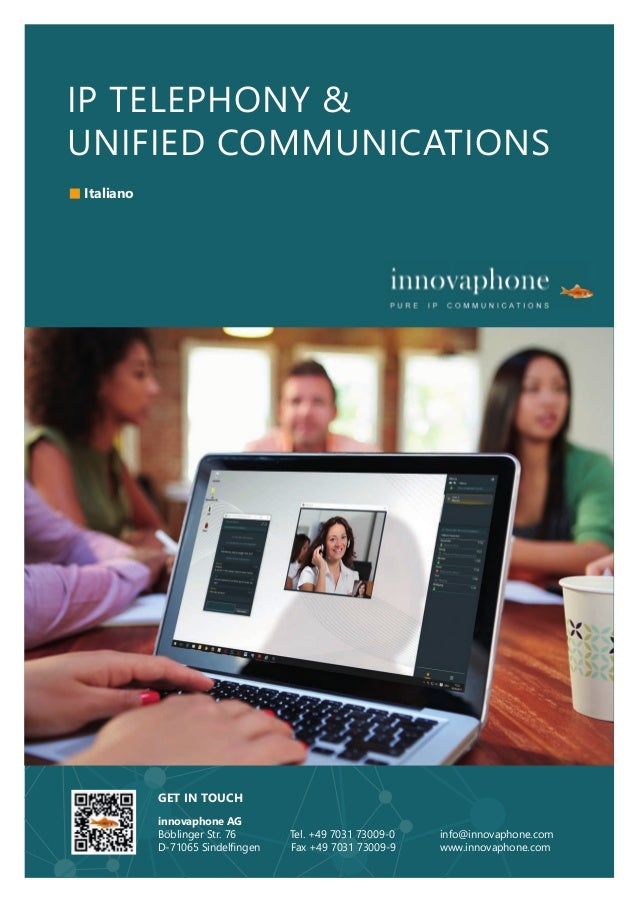 IP TELEPHONY & UNIFIED COMMUNICATIONS GET IN TOUCH innovaphone AG Böblinger Str. 76 Tel. +49 7031 73009-0 info@innovaphone...