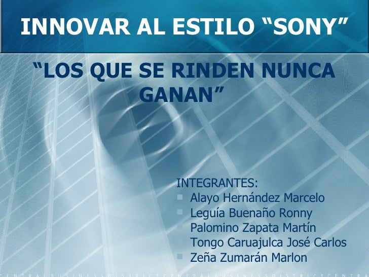 <ul><li>INTEGRANTES: </li></ul><ul><li>Alayo Hernández Marcelo </li></ul><ul><li>Leguía Buenaño Ronny </li></ul><ul><li>Pa...