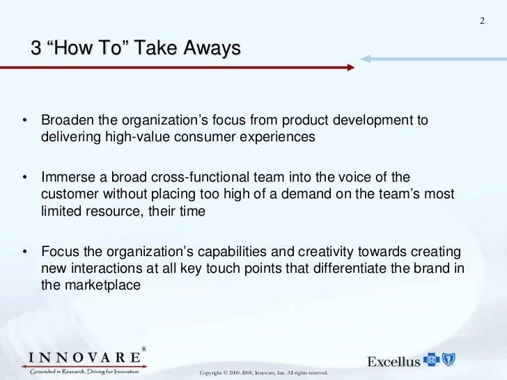 Innovare's Vocal Insights at Blue Cross Blue Shield Slide 2