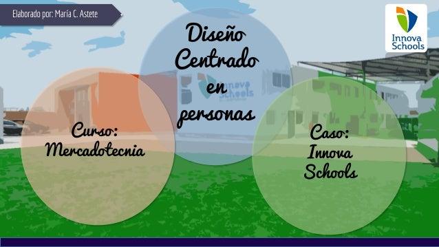 Diseño Centrado en personas Curso: Mercadotecnia Caso: Innova Schools