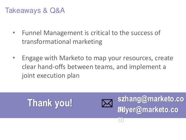 Driving Marketing Automation Success Across the Enterprise: Revenue Funnel