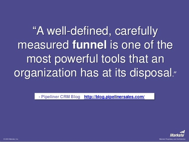 """""""A well-defined, carefully measured funnel is one of the most powerful tools that an organization has at its disposal."""" - ..."""