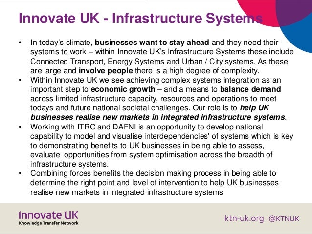 Innovate UK - Infrastructure Systems • In today's climate, businesses want to stay ahead and they need their systems to wo...