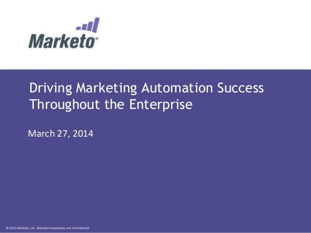 Driving Marketing Automation Success Throughout the Enterprise