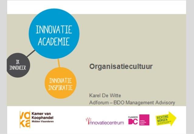 K.U.LEUVEN Centrum voor Organisatie- en PersoneelsPsychologie Karel De Witte