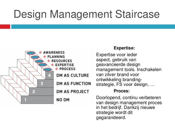 Design Management Staircase                      Expertise:               Expertise voor ieder               aspect, gebru...