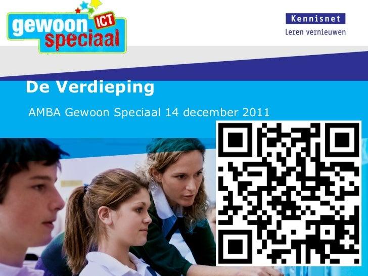 De Verdieping  AMBA Gewoon Speciaal 14 december 2011