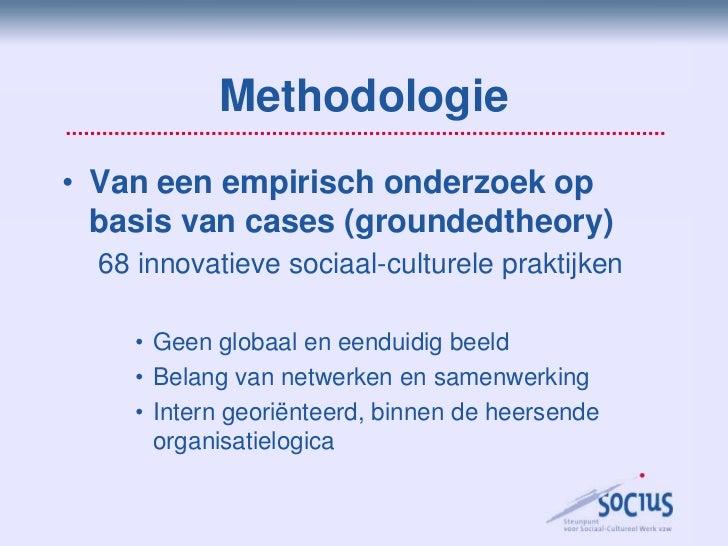 Innovatie in het sociaal-cultureel werk Slide 2