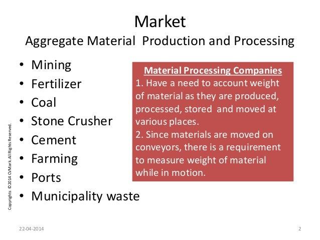 Copyrights©2014CVMark.AllRightsReserved. Market Aggregate Material Production and Processing • Mining • Fertilizer • Coal ...