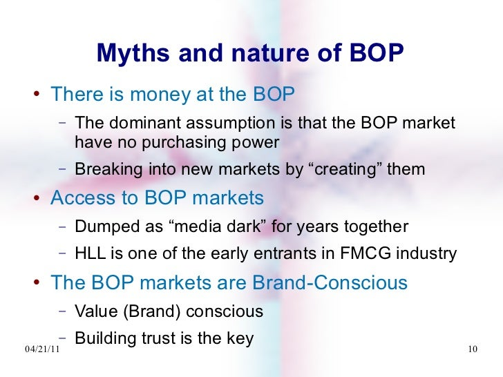 fmcg bop Fmcg 2020- the game changer - free download as powerpoint presentation (ppt or view presentation slides online overview about fmcg industry and the factors affecting it overview about fmcg industry and the factors affecting it explore bop markets are largely rural, poorly-served.