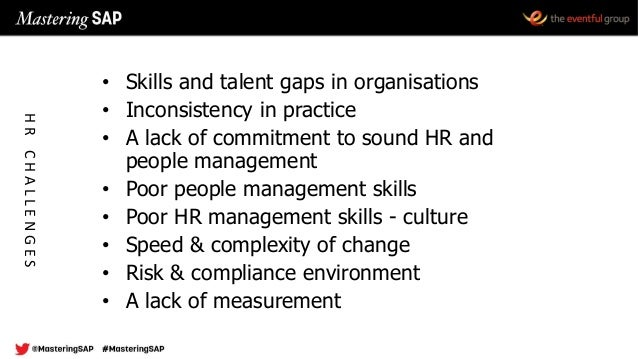 • Skills and talent gaps in organisations • Inconsistency in practice • A lack of commitment to sound HR and people manage...