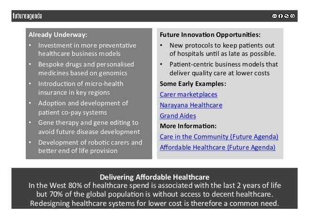 DeliveringAffordableHealthcare IntheWest80%ofhealthcarespendisassociatedwiththelast2yearsoflife but70...