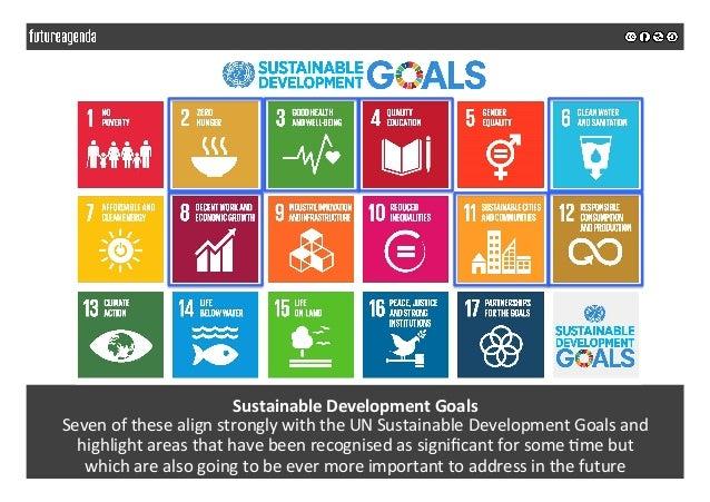 SustainableDevelopmentGoals SevenofthesealignstronglywiththeUNSustainableDevelopmentGoalsand highlightare...