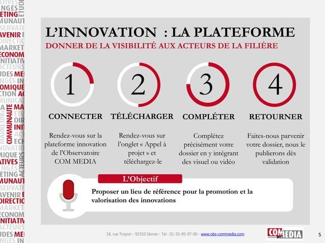 L'INNOVATION : LA PLATEFORME DONNER DE LA VISIBILITÉ AUX ACTEURS DE LA FILIÈRE  1  2  CONNECTER TÉLÉCHARGER Rendez-vous su...