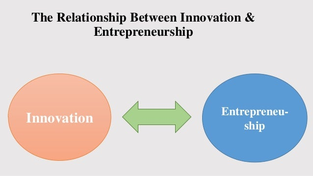 discuss the relationship between entrepreneurship innovation A relationship is a connection between different variables or components  entrepreneurship, innovation and economic development have numerous resilient connections, with the addition of specific weaknesses that will be addressed.