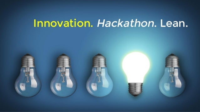 Innovation. Hackathon. Lean.