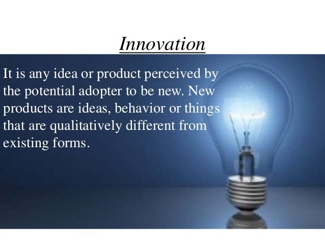 diffusion process of innovation adoption essay The present essay deals with the  thus imitation and social modeling are essential elements in the diffusion process  adoption of an innovation like.