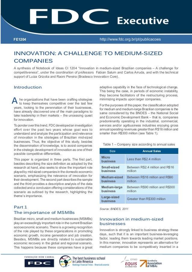 FE1204  Gestão Estratégica do Suprimento e o Impacto no Desempenho das INNOVATION: A CHALLENGE TO MEDIUM-SIZED Empresas CO...