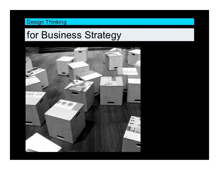 Design Thinking  for Business Strategy