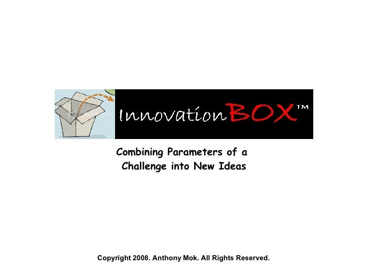 Combining Parameters of a  Challenge into New Ideas