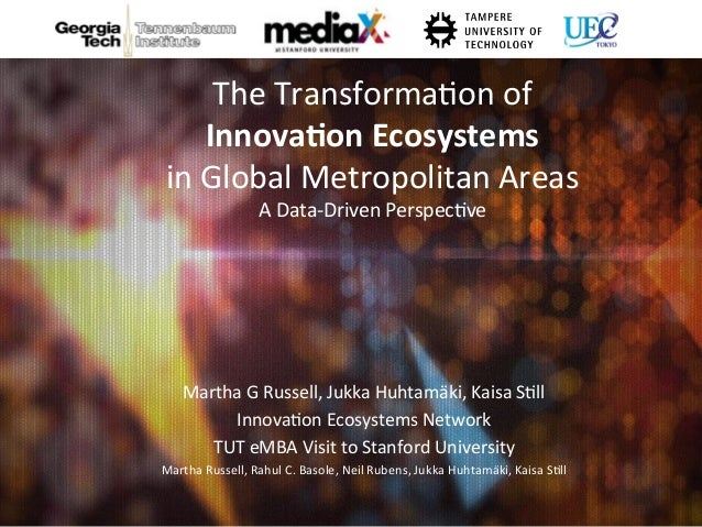 The	   Transforma,on	   of	   	    Innova&on	   Ecosystems	   	    in	   Global	   Metropolitan	   Areas	   	    A	   Data...