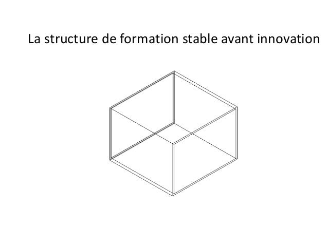 La structure de formation stable avant innovation