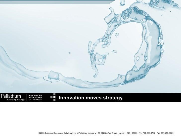Innovation moves strategy