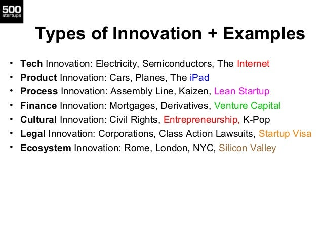examples of innovative products and services