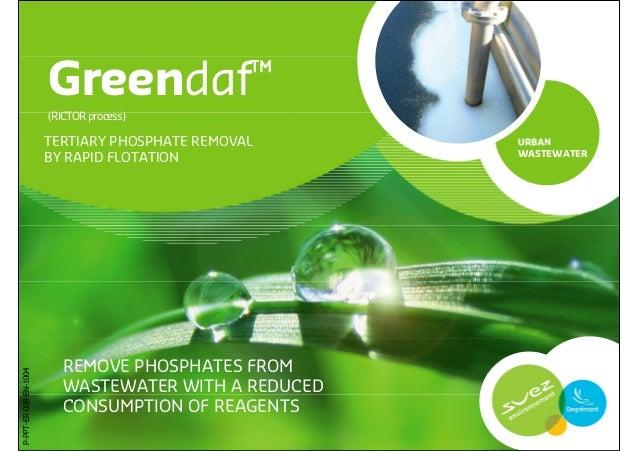 Greendaf™                       (RICTOR process)                       TERTIARY PHOSPHATE REMOVAL     URBAN               ...