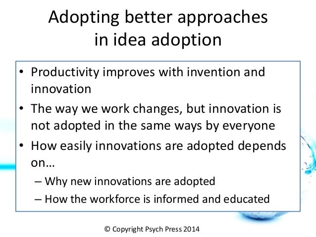 adoption of new innovations The rise in competition will bring about an urgency to focus on innovations and development  years to come on account of the adoption of new technologies as .