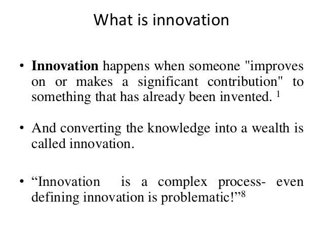 Innovation  Slide 2