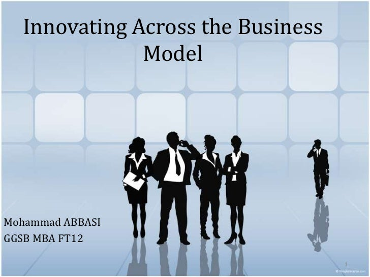 Innovating Across the Business              ModelMohammad ABBASIGGSB MBA FT12                                   1