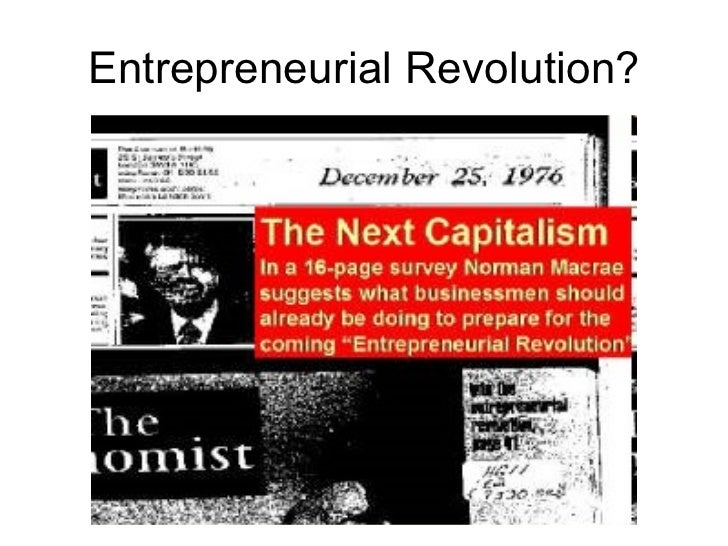 Entrepreneurial Revolution?