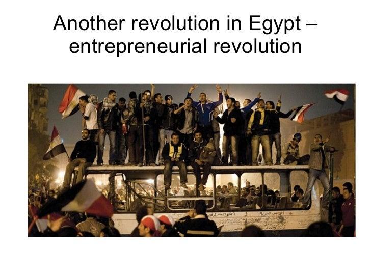 Another revolution in Egypt –entrepreneurial revolution